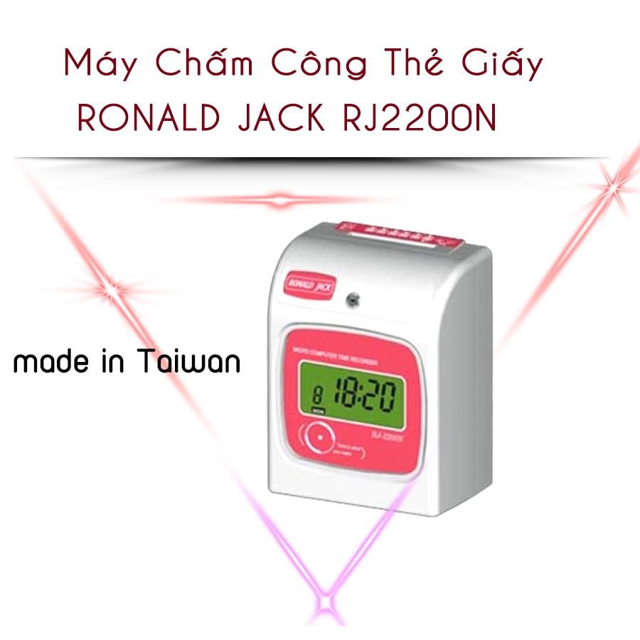 Máy chấm công thẻ giấy RONALD JACK RJ-2200N (2020)